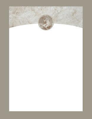Briefpapier Trauer A4 20 Stück