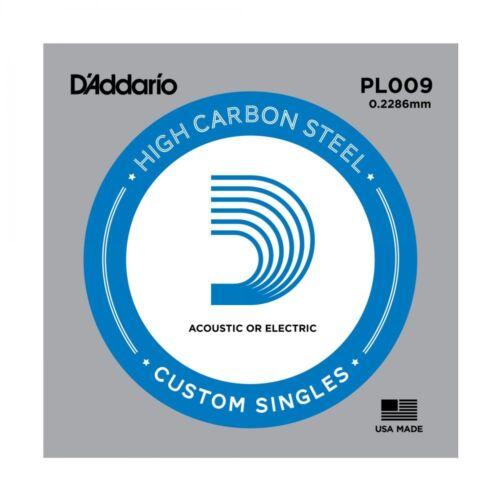 5 X D/'ADDARIO PLAIN STEEL SINGLE GUITAR PL009.Electric or Acoustic 5 Pack
