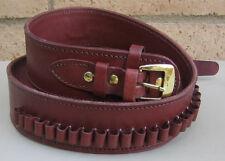 NEW! Deluxe Western Burgundy Genuine Leather 44/45 cal Cartridge Belt SASS Gun