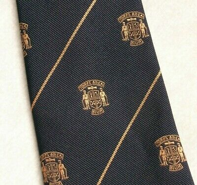 Appena Vintage Cravatta Da Uomo Cravatta Crested Yorks Area Num Unione Nazionale Dei Minatori-mostra Il Titolo Originale