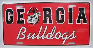 Georgia Bulldogs License Plate Car Truck Novelty Tag College Football NCAA Dawgs