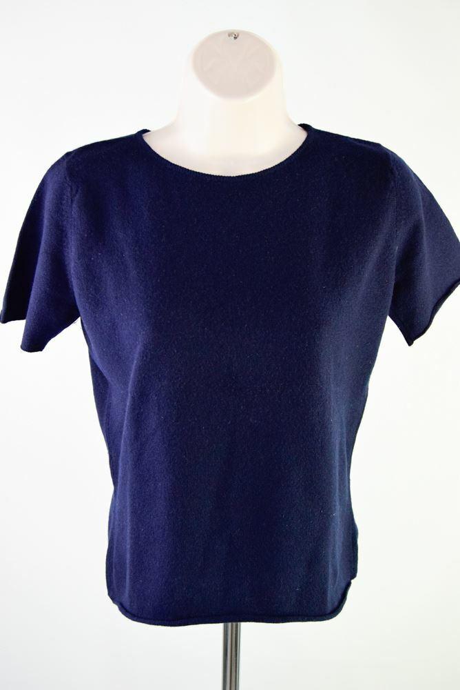 LUCIAN PELLAT-FINET PARIS Blau Cashmere Top, Größe S