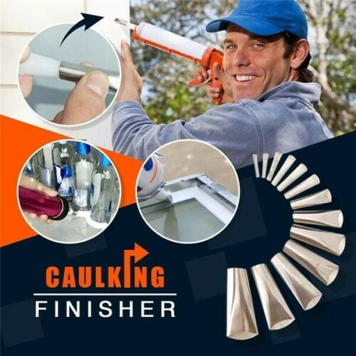 7PCS 3 in 1 Silicone Caulking Finisher Tool Nozzle Spatulas Filler Spreader Tool