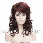 Women's wig Auburn Blonde brown Long Natural Curly Hair Full wigs Cosplay