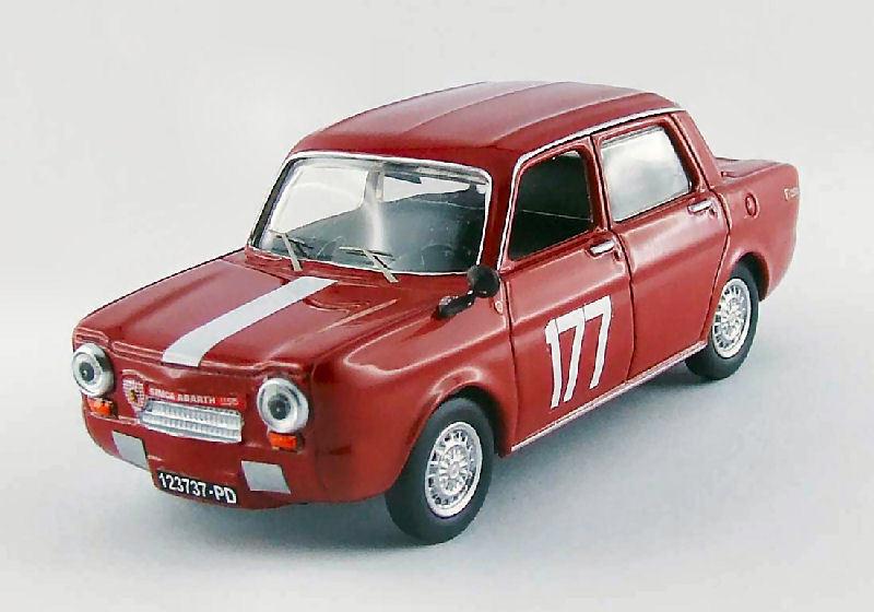 Simca Abarth 1150  177 Winner Coppa F.i.S.A. Monza 1964  G. Zanchetti 1 43 Model  voici la dernière