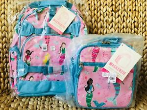 Pottery Barn Kids Pink Mermaid Large Backpack Classic