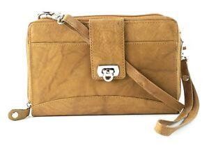 BACCI-Leather-Cross-Body-Zip-Around-Wallet-Clutch-Wristlet-Handbag-Purse-NWT