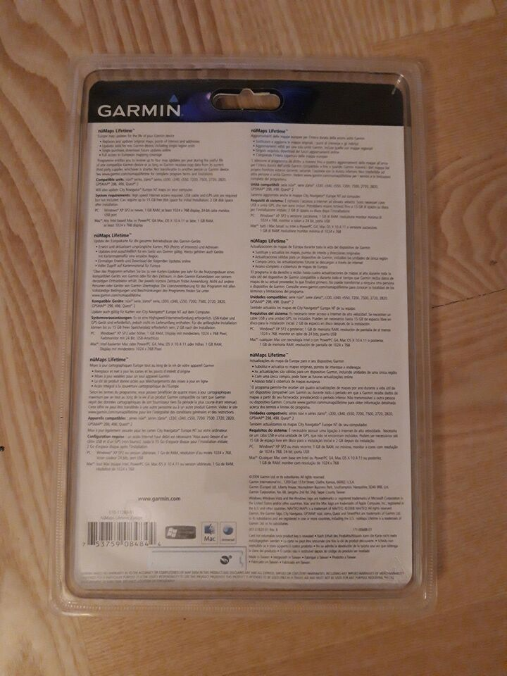 Software/kort, Garmin