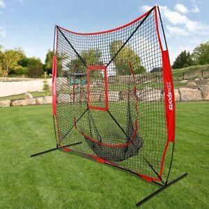Baseball-Practice-Net-Batting-Pitching-TeeBall-Softball-Thrower-W-Strike-Zone