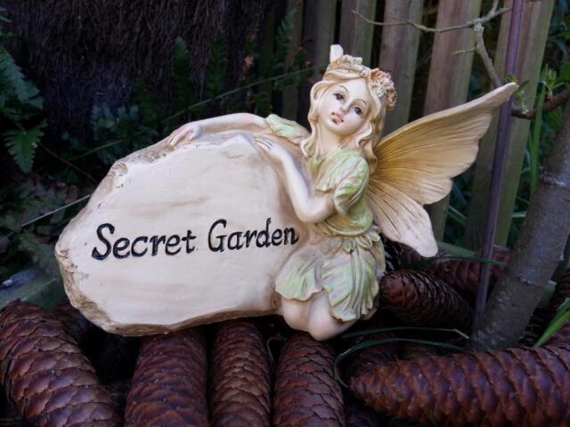Magical Secret Garden Fairy Stone Ornament Figurine Statue Patio Faerie Angel
