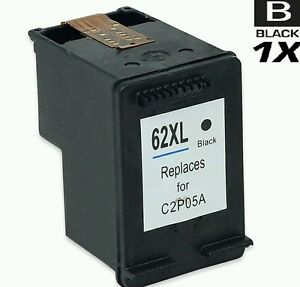 1 x hp 62xl black refilled ink cartridge hp 62 ebay. Black Bedroom Furniture Sets. Home Design Ideas