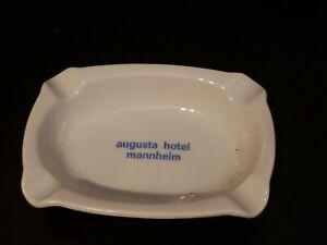 Augusta Hotel Mannheim Ashtray Bauscher Weiden Bavaria Germany Fabrikdekoriert