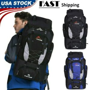 80L-Outdoor-Travel-Hiking-Camping-Backpack-Waterproof-Rucksack-Trekking-Bag-Pack