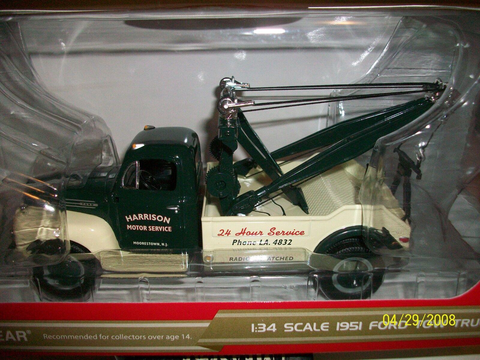 First Gear Harrison Motor Service 1951 FORD remorquage Dépanneuse lourde   10-3809 livraison gratuite