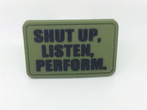 Shut Up écoute effectuer Vert Pvc Airsoft Patch