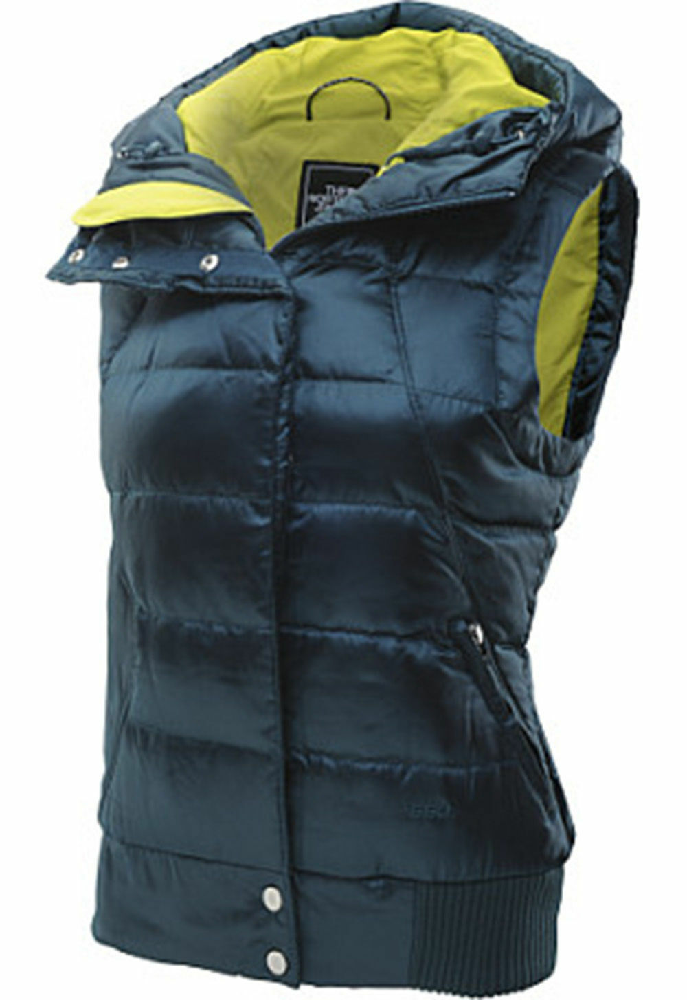 NEW THE NORTH FACE SZ L CX36N4M OH SNAP VEST 550 DOWN DEEP TEAL blueE