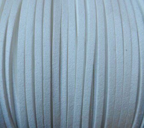 ANT3-01 De 10 a 180 metros Antelina 3mm cinta cordon BLANCO pulseras collares