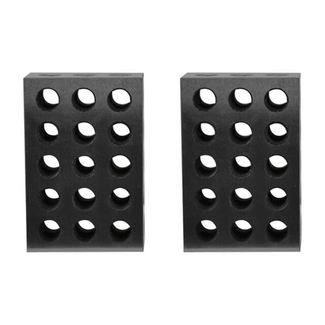 Set Of 2 Pieces 25x50x75mm Precision Blocks 23 Holes Parallel Clamping Milling