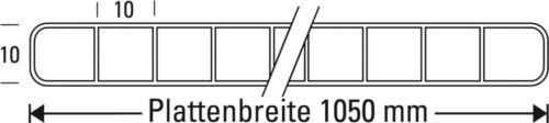 Polycarbonat Stegplatten10 mmBreite 1050 mmLichtplatte Glasklar