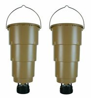 (2) Moultrie 5 Gallon All In One Hanging Deer Feeders W/ Adjustable Timer on sale