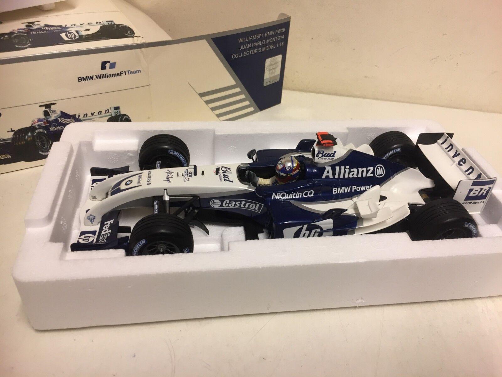 MINICHAMPS F1-WILLIAMS BMW FW26-J.P Montoya - 1 18 scalemodel Voiture-RARE
