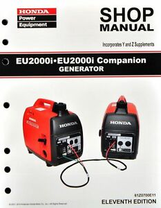 honda eu eui generator service repair shop manual ebay