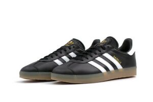 Leather Originals gomme noir Gazelle blanc Bz0026 Adidas 10 Uk qEwd6zq