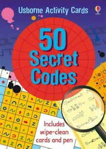 Usborne-50-Secret-Codes-Children-039-s-Activity-Code-Breaking-Spy-Card-Pack