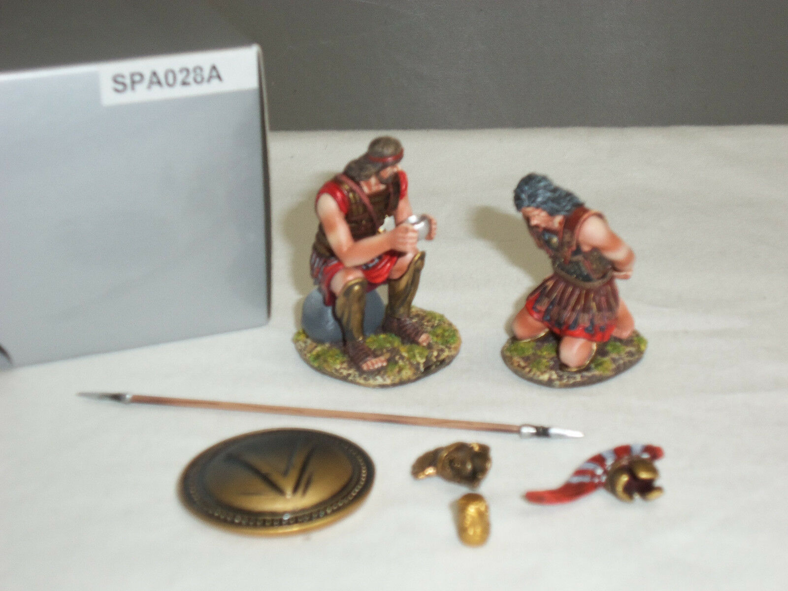 THOMAS GUNN SPA028A SPARTANS PRISONER WITH LAMBDA SHIELD METAL TOY SOLDIER SER