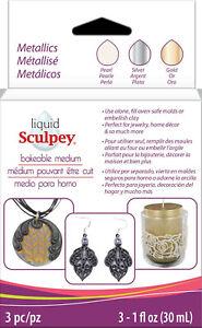Sculpey-Liquid-Medium-Metallics-Pearl-Silver-amp-Gold-Bakeable-Clay-ALSMET1