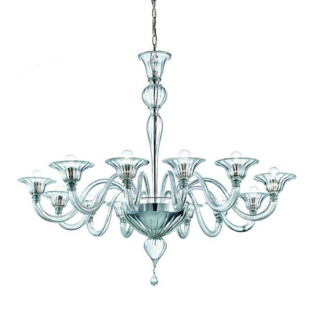 Original Italian Murano Glass Chandelier - Elegante 12 Lights --- FREE SHIPPING