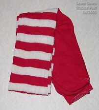 100% Cotton Long Over the Knee Striped Socks - (Red/White) -Colonial/Re-Enacting