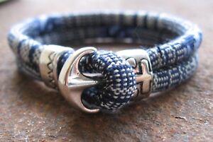 Ethno-Armband-Herren-Damen-bunt-Sailor-blau-weiss-Bracelet-Anker-Pulsera-Mexiko