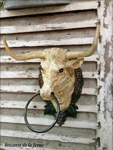 tête de vache Landaise en fonte ( intérieur / extérieur )
