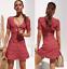 2019-Women-V-Neck-Floral-Short-Sleeve-Slim-Fit-Beach-Summer-Dress-Maxi-Cocktail thumbnail 10
