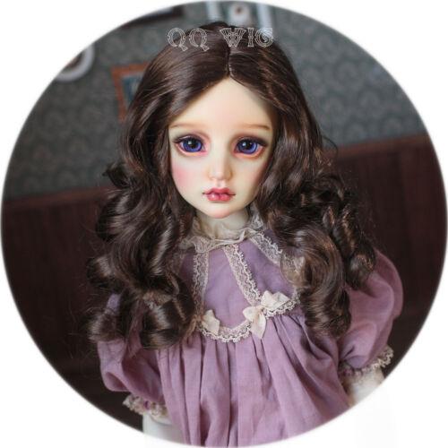 QQ-48B *Summer Dream* Brown  BJD Doll Synthetic Mohair Wig  1//6;1//4;1//3