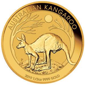 2019-P-Australia-1-2-oz-Gold-Kangaroo-50-Coin-GEM-BU-SKU55531