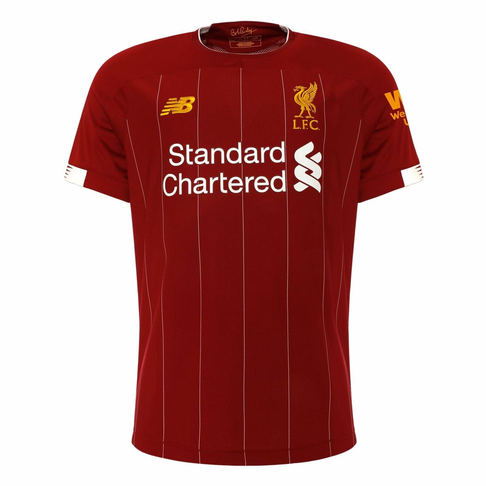 Liverpool FC home Kit Rosso uomoica Corta Calcio Da Uomo Tshirt 1920 LFC Ufficiale