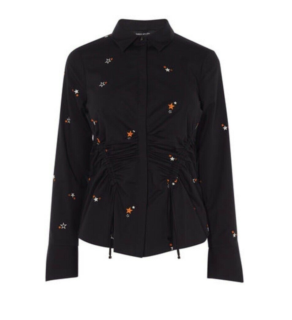 Karen Millen Star Embroiderot Shirt  Top  Größe 12