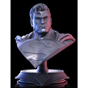 1-10-Superman-Bust-Resin-Figure-Model-Unassambled-Unpainted