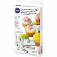Wilton 12 Pc Cupcake Decorating Set Tips 1m 4b 2a 2d Tips 8 Disposable Bags