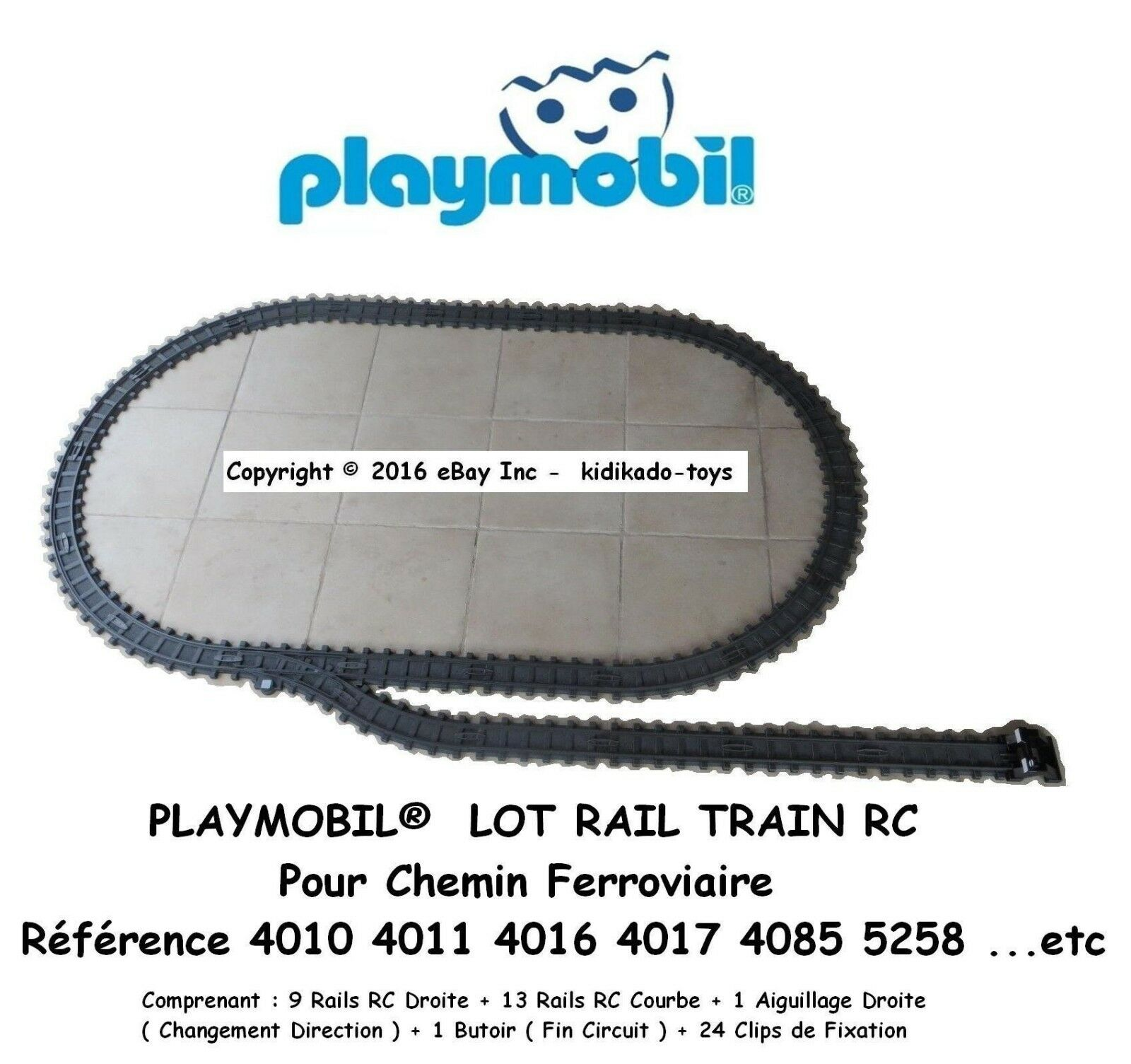 PLAYMOBIL® LOT RC RAIL 4010 4011 4016 4017 4085 5258 Custom Accessoire   4    1E