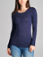 Basic-Long-Sleeve-Solid-Top-Womens-Plain-Cotton-T-Shirt-Stretch-Tight-Crew-Neck thumbnail 14