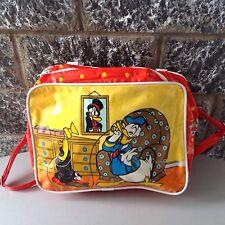Vintage Mickey#Donald  Walt Disney Productions Made In England Vinyl Bag Rare