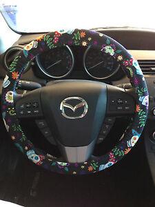 Sugar Skull Dia de los Muertos Day of the Dead Calaveras Steering Wheel Cover