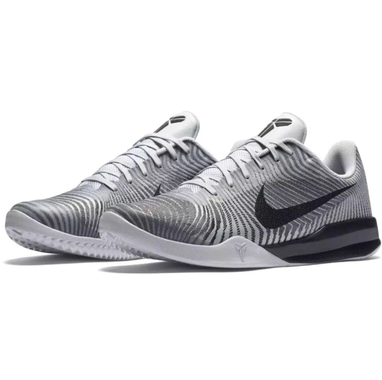 Nike Kobe Mentality II 2 Cool Grey White Black Wolf Silver 818952-100 Mens Sz 14