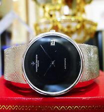 Men's Vintage Vacheron Constantin 18k White Gold Automatic Watch 80.5 grams
