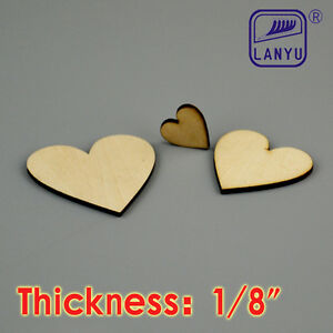 Love Sign laser wood shaped cut out unfinished