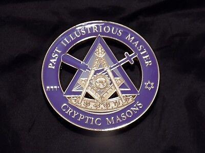 Mason Masonic Triple Tau Cut Out Car Emblem-New!
