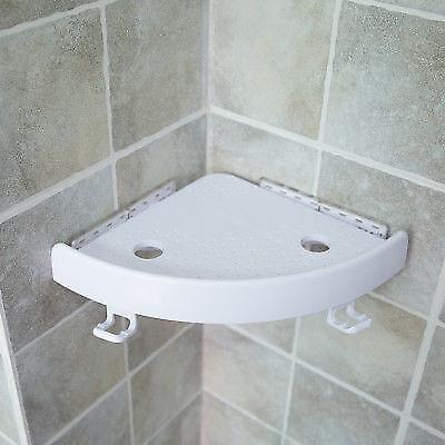 Quick Fix Shower Caddy Shelf Bathroom Corner Bath Rack Storage Holders Organizer